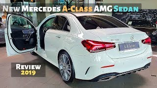 New Mercedes A-Class AMG Sedan 2019 Review Interior Exterior