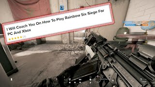 I hired a Pro Rainbow Six Siege Coach on Fiverr and pretended to be a beginner Rook red dot main