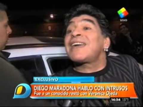 El polémico estado de Diego Maradona a la salida del restó