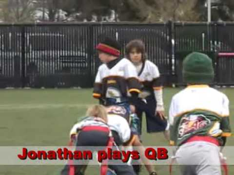 Jonathan & the Steelers NFL Flag Football Pee-Wee Division Highlights Video