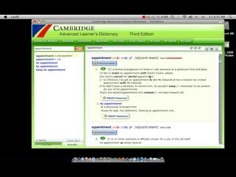 Tutorial #1 Basic & Important Features of CAMBRIDGE ADVANCED LEARNER'S DICTIONARY
