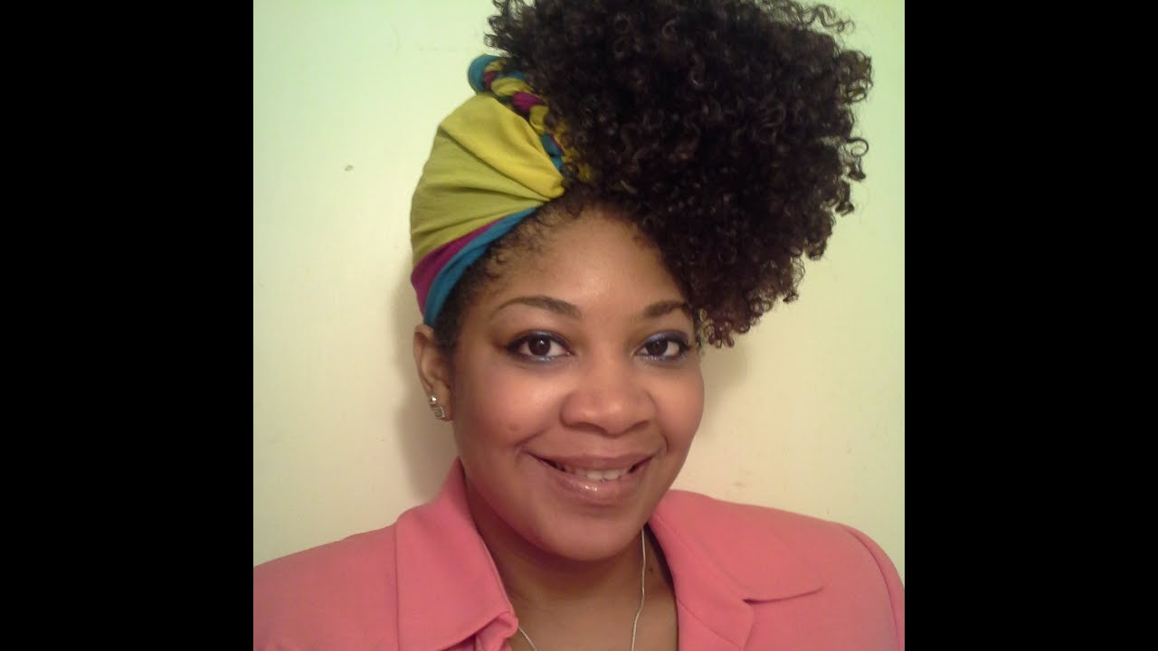 Pineapple Updo W Infinity Scarf Natural Hair Youtube