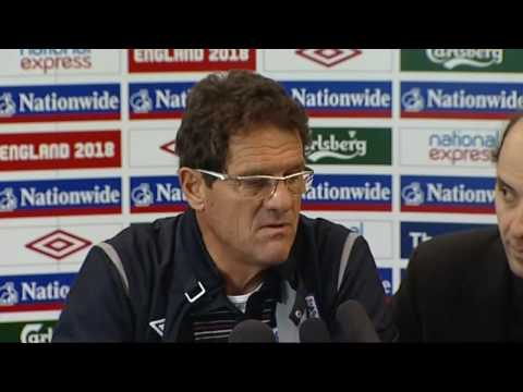Fabio Capello on the injuries to Gerrard, James and Rooney