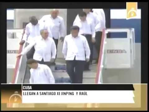 Llegan a Santiago de Cuba Presidente de China y Cuba