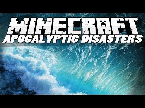 Minecraft Mods APOCALYPTIC DISASTERS MOD Tsunamis Blackholes Sinkholes Mod Showcase