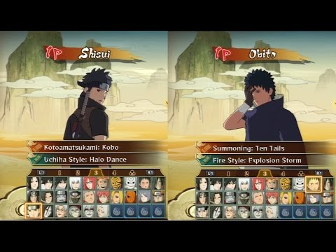 Naruto Shippuden Storm Revolution  All Characters Jutsus & Ultimate Jutsus ~Shisui & Obito Included