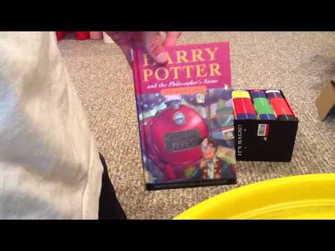 Unboxing Harry Potter Books 1-7 UK Edition