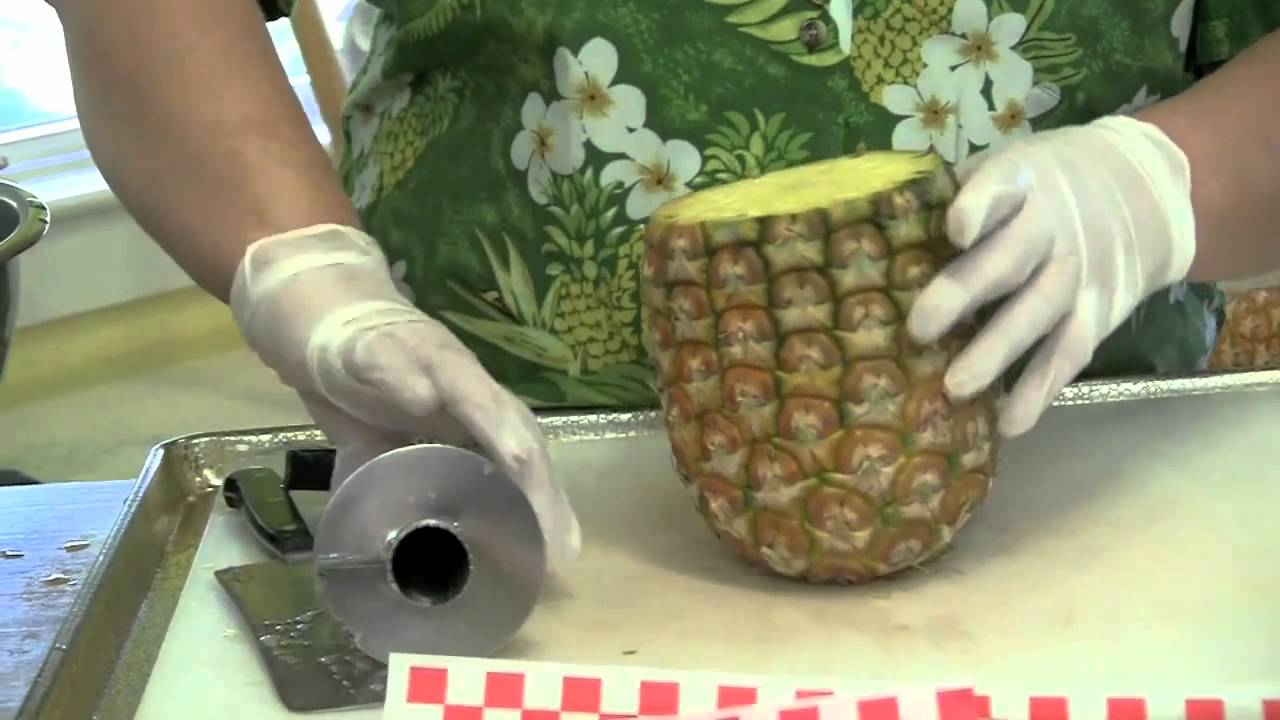 how to cut a pineapple correctly