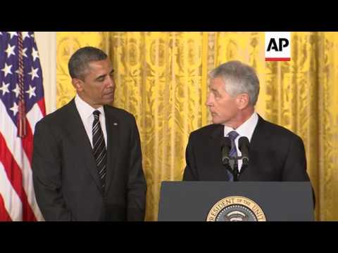 Obama chooses Hagel as defence chief, Brennan to lead CIA