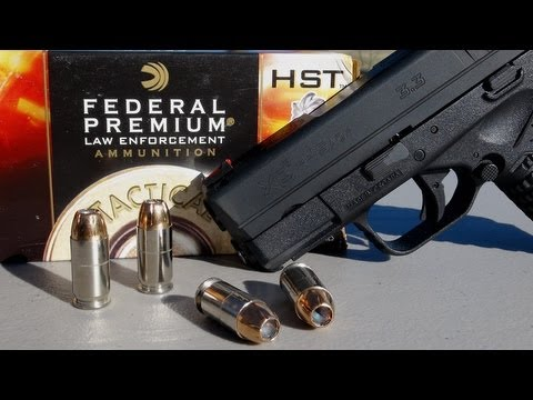 .45 ACP SHORT BARREL TEST:  230 gr +P Federal HST