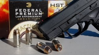 .45 ACP SHORT BARREL TEST_  230 gr +P Federal HST