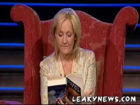 J. K. Rowling Midnight Reading of Harry Potter and the Death