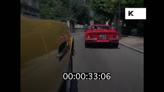 1960s, 1970s French Riviera, Sports Cars, Car Race, HD from 35mm