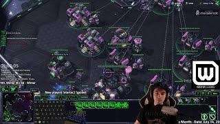 Winter vs Livibee - Full Spread Terran vs Zerg (ft. Nuclear Missiles)