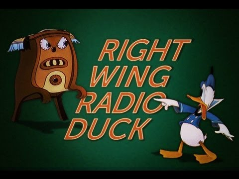 Donald Duck Meets Glenn Beck in Right Wing Radio Duck