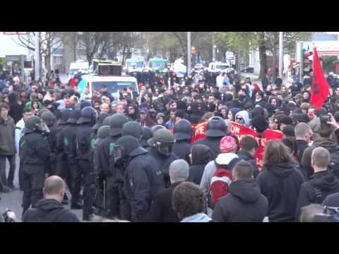 Prügel und Wasserwerfereinsatz bei revolutionärer 1. Mai-Demo Hamburg, 01.05.2013 utopieTV