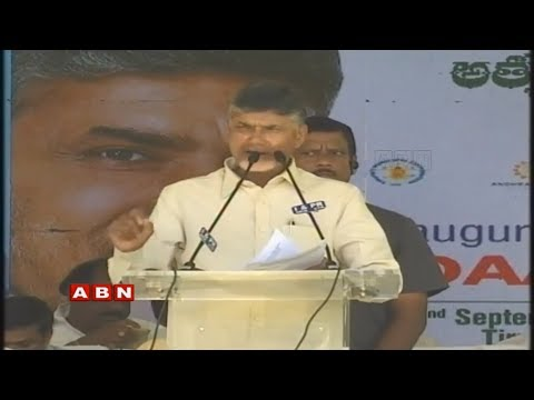 CM Chandrababu Naidu Participates In Clean and Green Rally & Public Meet | Tirupati | ABN LIVE
