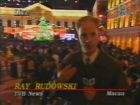 Ray Rudowski TVB News Macau Handover Live Blooper Dec 19 1999 Grace Under Pressure