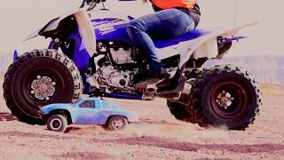 EPIC DIRTBIKE RACE VS RC CAR CHALLENGE!!