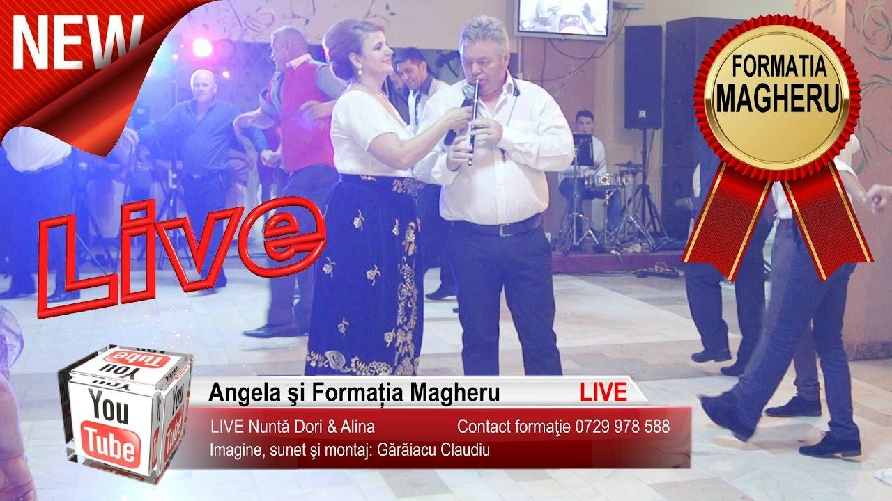 Angela si Formatia Magheru - S-aude, canta lautarii | Colaje Hore si Sarbe LIVE Nunta Dori si Alina