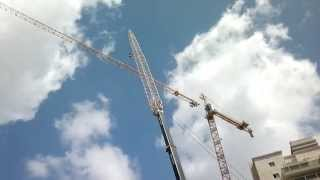 Liebherr LTM-1500. Disassembly of the tower crane Potein. Avi Cranes.