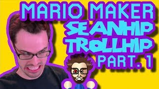 Mario Maker - Outrageously Awful Troll Puzzle Level by Seanhip (0% Clear Rate...) | Part 1