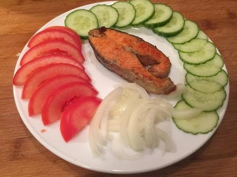 Красная рыба жареная, вкус превосходный. Форель жареная, рыба жареная, жареная рыба. Видео рецепт.