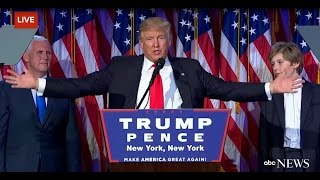 Donald Trump's speech after his Win US Presidential Election 2016