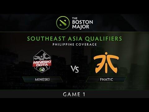 Mineski vs Fnatic - Game 1 - The Boston Major SEA Qualifiers - Philippine Coverage