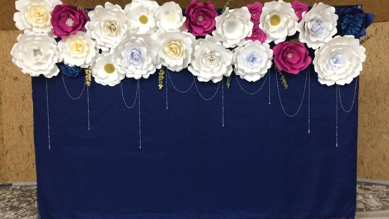 Как сделать большие цветы на свадьбу своими руками 9