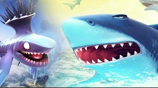 An Extinct Shark Vs Giant BOSS SQUID - Hungry Shark World Vs Hungry Shark Evolution