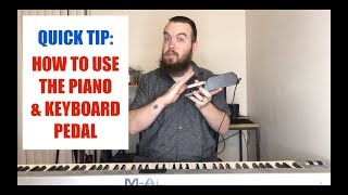 QUICK TIP: How To Use the Piano & Keyboard Pedal! Beginner Piano | Beginner Keyboard | Music Lesson
