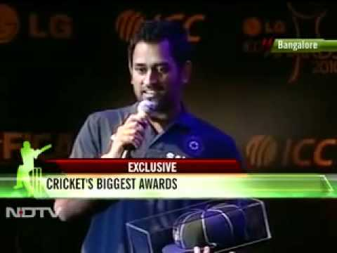 LG ICC Awards 2010- M S Dhoni -- Captain of Test team of the year