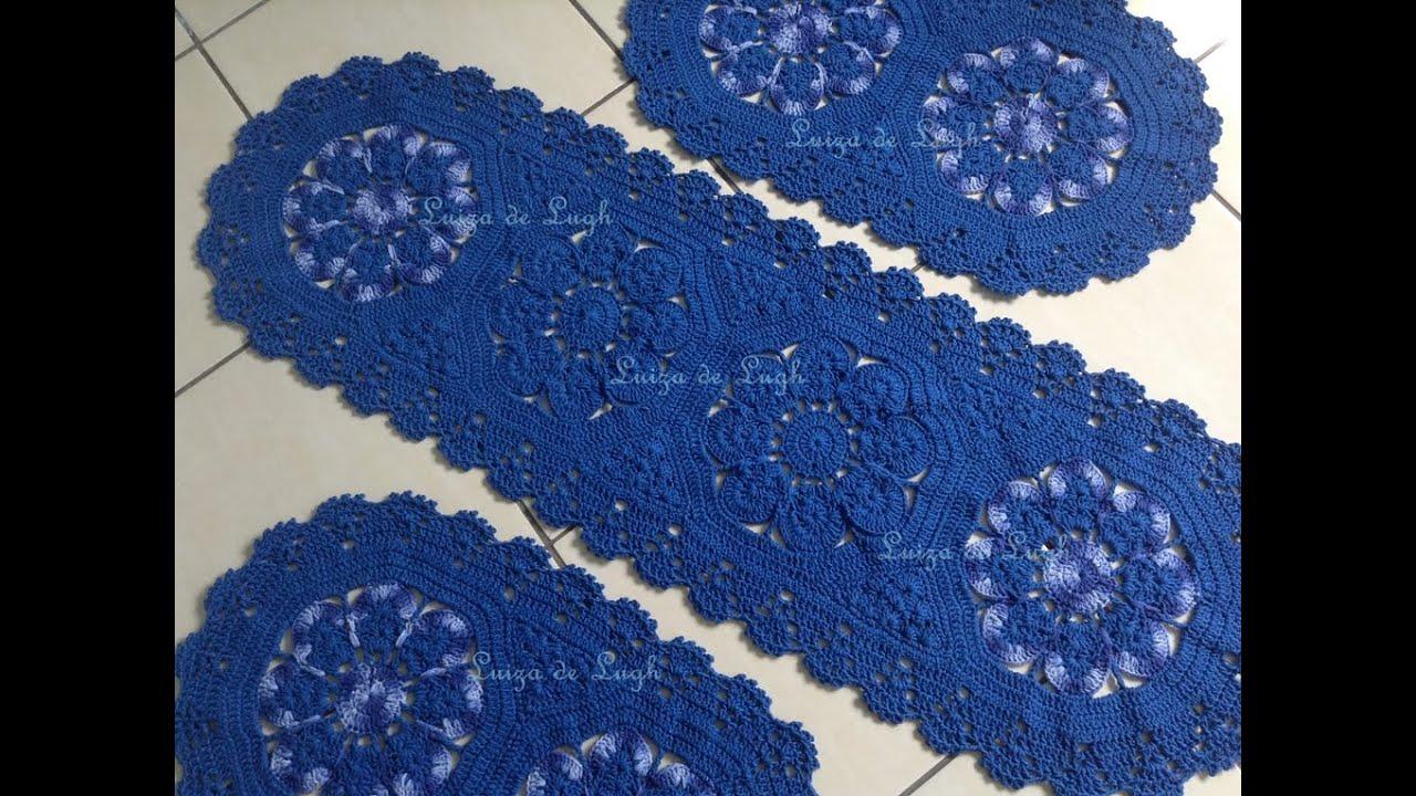 Tapete De Barbante Redondo Flor De Croche Jpg | All about loving each