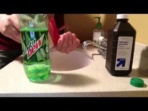 Homemade Mountain Dew glow stick.