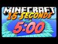"""Minecraft Parkour Speedrun   """"15 Seconds""""   5:00.73"""
