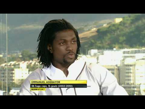 Emmanuel Adebayor's phone rings live on air