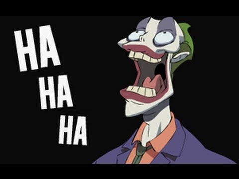 The Joker laughing