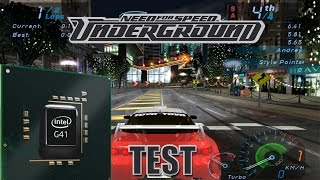 Need for Speed Underground İntel G41 Test