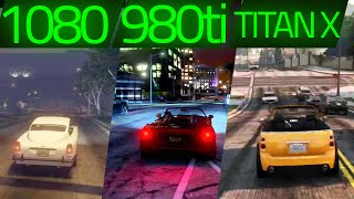 GTA V GTX 1080 vs GTX 980ti vs GTX TITAN X 1440p MAXED OUT