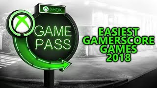 EASIEST XBOX GAME PASS Games for Gamerscore 2018 - UPDATED (April - Free Trial w/ Xbox Live Gold)