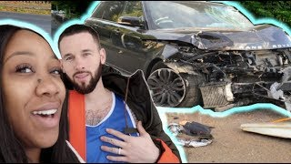 CRASHED HUSBANDS CAR PRANK!!