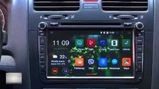 Top quality new Quad core Android 4.4.4 kitkat navigation for Volkswagen, Skoda, Full review. PART 2