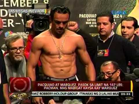 0 - News: 24 Oras: Pacquiao at Marquez, pasok sa limit na 147 lbs. - Philippine Daily News