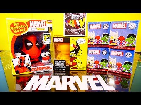 NEW Deadpool Mr Potato Head Toy Marvel Wolverine Kidrobot Munnyworld Mystery Minis Toys Unboxing