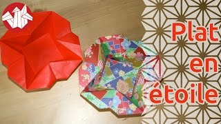 Origami - Plat En Etoile