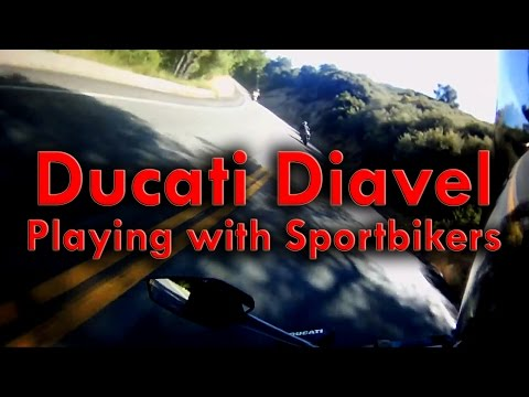 Ducati Diavel Playing with Sportbikers