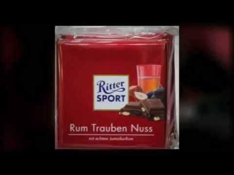 ritter sport rum trauben nuss youtube. Black Bedroom Furniture Sets. Home Design Ideas