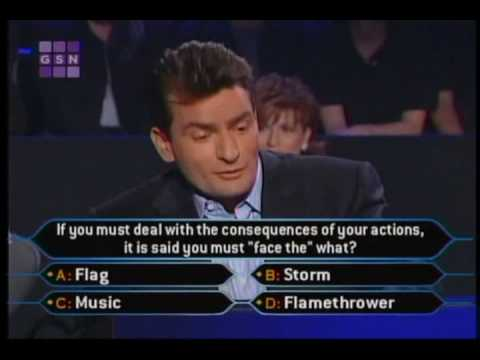 1/2 Charlie Sheen on celeb millionaire Video