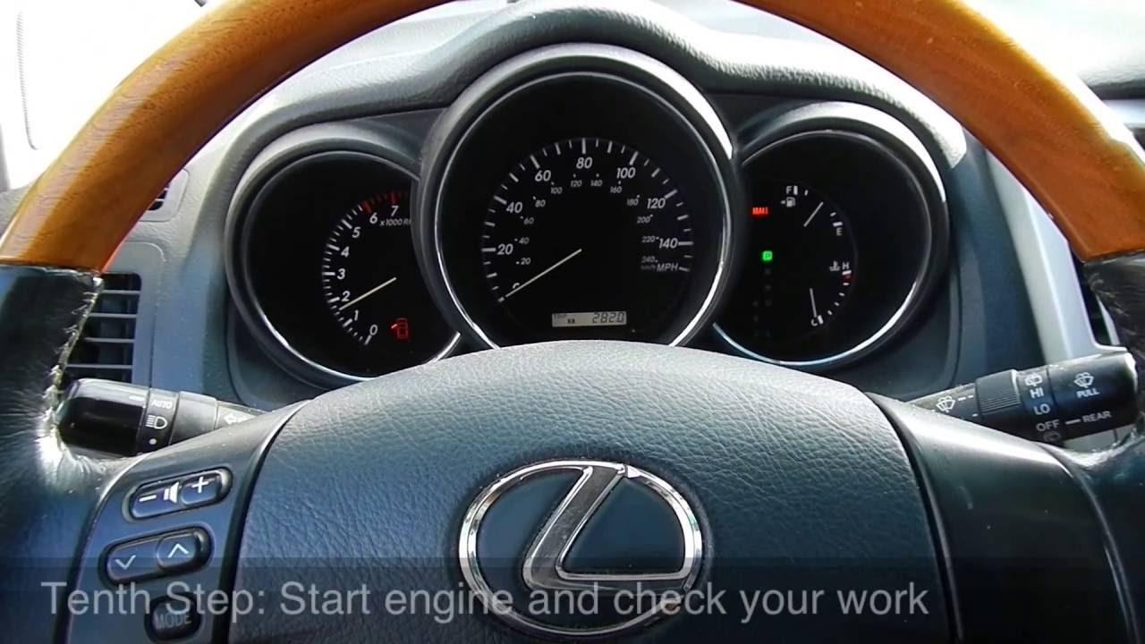 How To Change Serpentine Belts On Lexus Rx 330  300  Ac
